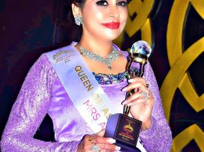 Mrs Asia Queen Sonali Pradeep returns to a rousing welcome at Coimbatore